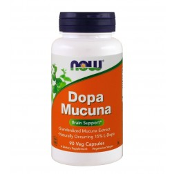 DOPA MUCUNA 90 CÁPSULAS NOW SPORTS