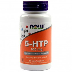 5-HTP 100mg 60 CÁPSULAS NOW FOODS