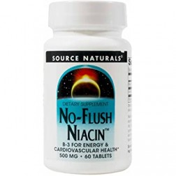 NO-FLUSH NIACIN 500mg 60 COMPRIMIDOS SOURCE NATURALS
