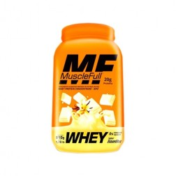 WHEY PROTEIN CONCENTRADO 810g BAUNILHA MUSCLE FULL