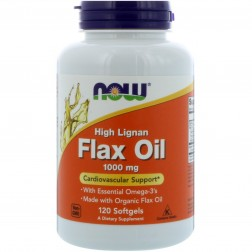 FLAX OIL 1000mg 120 CÁPSULAS NOW SPORTS