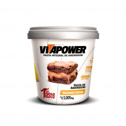 PASTA DE AMENDOIM VITAPOWER 1,005Kg BROWNIE CREAM